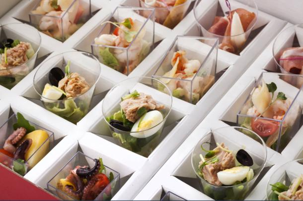 Сет из 4 видов салатов в итальянском стиле