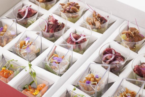 Сет из 4 видов салатов в азиатском стиле