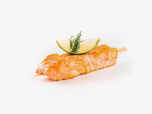 Мини шашлычок из красной рыбы