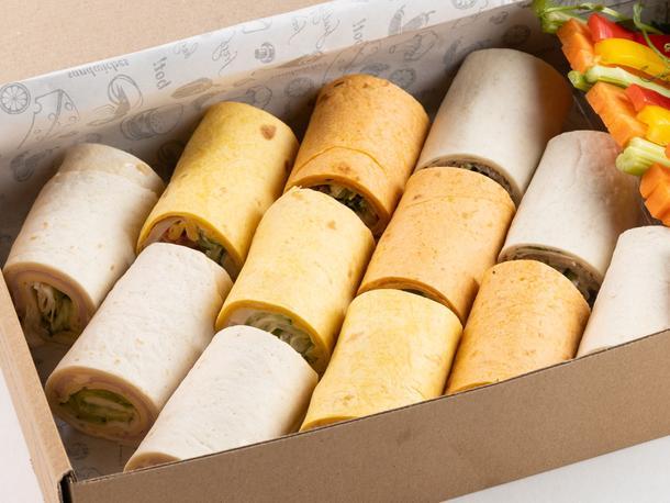 Набор мясных сэндвич-роллов (12 шт)